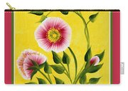 Wild Roses On Yellow With Borders Carry-all Pouch