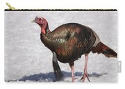 Wild Turkey In The Snow Carry-all Pouch