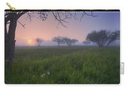 Wildflowers On A Foggy Pasture Carry-all Pouch