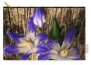 Wildflowers On Wood Carry-all Pouch