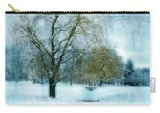 Willow Trees By Stream In Winter Carry-all Pouch
