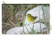 Wilsons Warbler By The Stream Carry-all Pouch