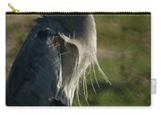 Wind Blown Great Blue Heron Carry-all Pouch