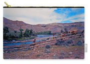 Wind River And Horses Carry-all Pouch