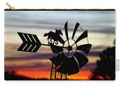 Windmill At Sunset Carry-all Pouch