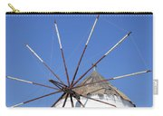 Windmill In Santorini Carry-all Pouch