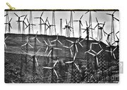 Windmills By Tehachapi  Carry-all Pouch by Susanne Van Hulst