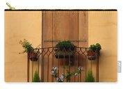 Window And Balcony In Vicenza Carry-all Pouch