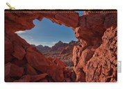 Window On The Valley Of Fire Carry-all Pouch