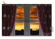 Window With Fiery Sky Carry-all Pouch