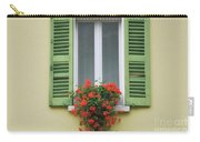 Window With Shutter Flowers Carry-all Pouch