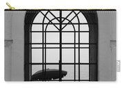 Windows On The Beach In Black And White Carry-all Pouch