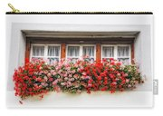 Windows With Red Flowers Carry-all Pouch