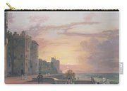 Windsor Castle North Terrace Looking West At Sunse Carry-all Pouch