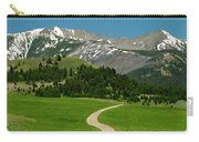 Windy Road To The Crazy Mountains Carry-all Pouch