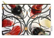 Wine Bottles In Curved Wine Rack Carry-all Pouch