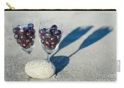 Wine Glass With Grapes Carry-all Pouch
