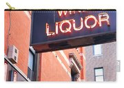 Wines And Spirits Sign Carry-all Pouch