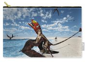 Winged Dimorphodon Pluck Fish Carry-all Pouch by Walter Myers