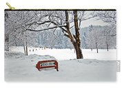 Winter Beach Sign Carry-all Pouch by Aimee L Maher Photography and Art Visit ALMGallerydotcom