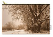 Winter Country Road Carry-all Pouch