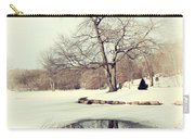 Winter Day In The Park Carry-all Pouch