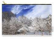 Winter Forest Covered With Snow Carry-all Pouch