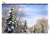 Winter Forest Under Snow Carry-all Pouch by Elena Elisseeva
