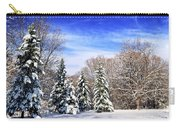 Winter Forest With Snow Carry-all Pouch