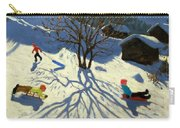 Winter Hillside Morzine France Carry-all Pouch