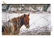 Winter Horse Landscape Carry-all Pouch