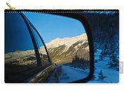 Winter Landscape Seen Through A Car Mirror Carry-all Pouch