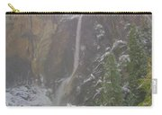 Winter Lower Yosemite Falls Carry-all Pouch