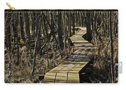 Winter On Miller Pond Board Walk Carry-all Pouch