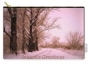 Winter Pink Season's Greetings Carry-all Pouch