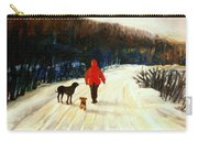 Winter Road Quebec Laurentian Landscape Carry-all Pouch