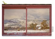 Winter Rocky Mountain Foothills Red Barn Picture Window Frame Ph Carry-all Pouch