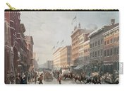 Winter Scene On Broadway Carry-all Pouch by American School