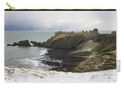 Winter Storm At Dunottar Carry-all Pouch