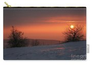 Winter Sunset Carry-all Pouch by Michal Boubin