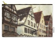 Winterly Old Town Carry-all Pouch by Jutta Maria Pusl