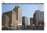 Wisconsin River Brige With Flags Carry-all Pouch