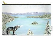 Wolf At Lake Tahoe Carry-all Pouch