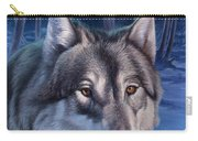 Wolf In Moonlight Carry-all Pouch