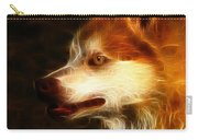 Wolf Or Husky - First Place Win In 'angry Dog Contest' Carry-all Pouch