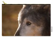 Wolf Outlined By The Sun Carry-all Pouch