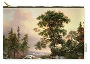Wolves In A Winter Landscape Carry-all Pouch