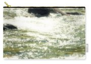 Woman Admist A Torrent Carry-all Pouch by Joana Kruse