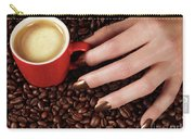 Woman Hand Holding A Cup Of Latte Carry-all Pouch