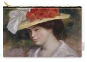 Woman In A Flowered Hat Carry-all Pouch